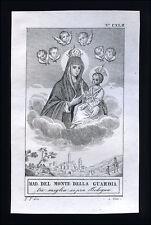 santino incisione 1800 MADONNA DI S.LUCA in BOLOGNA