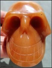 Big Stunning Red Aventurine Crystal Art Skull