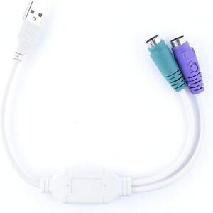 CABLE ADAPTADOR USB 2.0 A DOBLE PS/2 PARA TECLADO Y RATON