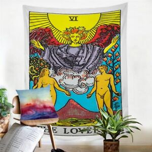 The Lovers Tarot Card Reading Tapestry Hanging Throw Cover Home Room Decoration