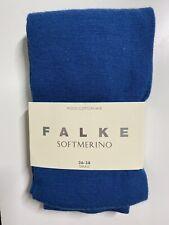 Brand New Falke Softmerino Wool Cotton Mix Tights Collant - Blue - Size S 36-38