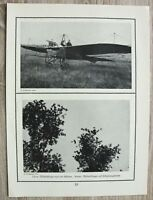 Blatt 1914-18 Flugzeug Militär Flieger Pilot Erkundungsflug Technik Aviatik 1.WK