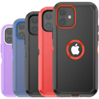 For iPhone 12 12 Pro Max Mini Case Heavy Duty Shockproof Armor Hybrid Cover