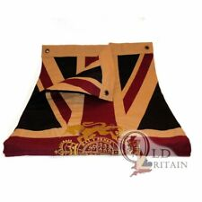 Authentic Wovenmagic Vintage Union Jack Flag with Gold Royal Coat of Arms Crest