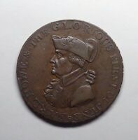 "1795 Great Britain - Hampshire Halfpenny Token, ""Earl Howe"", DH-23."