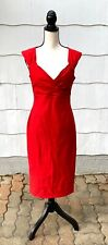 Pinup Couture Erin Wiggle Dress Sz L Red Sheath Stretch