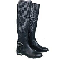 Vince Camuto Pordalia Black Leather Almond Toe Knee High Riding Boots Womens 6.5