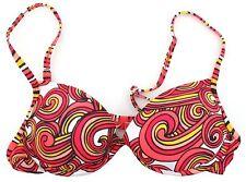 Speedo Bright Swirl Design Underwired Moulded Cup Bikini Top UK 34B