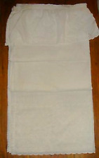 Bright White Lace Eyelet Fabric Shower Curtain With Attached Valance Springmaid