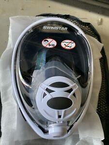 Swimstar Full Face Snorkling Mask Black/White L/XL