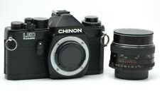 Chinon Led Promaster 35mm Slr Film Camera - M-42 Mount With Lens