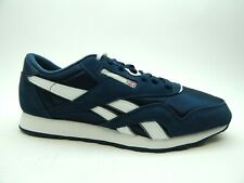 REEBOK CL NYLON CLASSIC TEAM NAVY PLATINUM MEN SHOES SELECT SIZE 39749