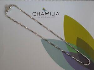 Genuine, CHAMILIA 925 Silver Box Snap NECKLACE Charm, 22 inches RRP £120