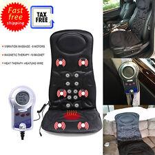 6 Motor Shiatsu Car Seat Back Massage Cushion Spine Heat Deep Kneading Action