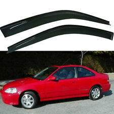 for Honda Civic Coupe 2Door  Smoke Window Visor Vent Rain Guard 96 97 98 99 00