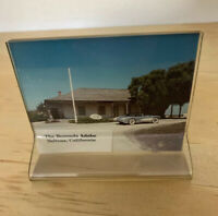 "Color Photo Of Sleek Car In Salinas CA Vintage 4"" X 3.5"" In plastic Clear Frame"