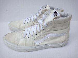 Vans Sk8-Hi White Skateboard Shoes Mens Size 12