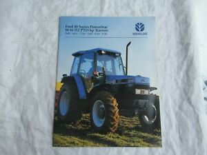Ford New Holland 5640 6640 7740 7840 8240 8340 Series 40 tractor brochure