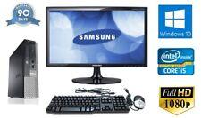 """Fast Cheap Dell Quad Core i5 128GB SSD 8GB Win 10 22"""" Full HD Complete Set PC"""