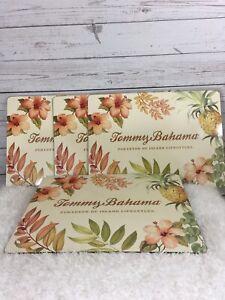 Tommy Bahama Hawaiian Cork Placemats Set 4 Tiki Aloha Floral