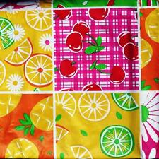 52x70 Oblong~VINYL TABLECLOTH~Flannel Back~Fruit/Floral/Stripe/Green/Yellow~NEW