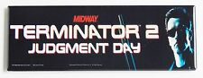 Terminator 2 Marquee FRIDGE MAGNET (1.5 x 4.5 inches) arcade video game header