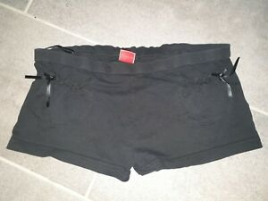 Ladies Miss Selfridge Black Shorts Size 16
