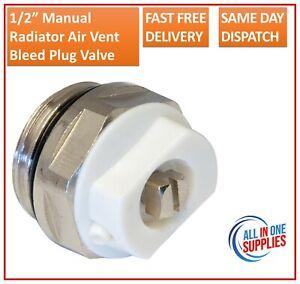 "1/2"" Manual Radiator Air Vent Bleed Plug Valve"