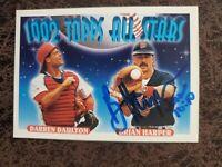 1993 Topps Brian Harper #408 - Minnesota Twins - Autographed!