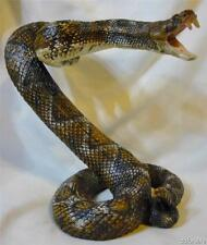 Life Size Rattlesnake Statue In Striking Position Finely Detailed Polyresin