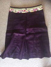 Womens White Stuff Skirt Winter Size 10 Exc Cond Plum Purple