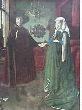 Jan van Eyck GIOVANNI ARNOLFINI VON LUCCA UND FRAU Druck aus der 40er print
