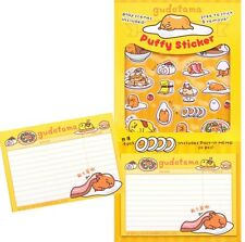 Gudetama Egg Puffy Sticker With Post It Memo 2016