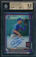 BGS 9.5/10 GLEYBER TORRES AUTO 2015 BOWMAN CHROME PURPLE REFRACTOR /250 GEM MINT