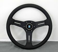 Nardi Competition Steering Wheel - 330mm - Black Leather / Black Type A Horn