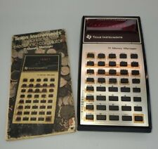 Texas Instruments Money Manager Ti Electronic Calculator Vintage & Book