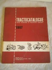 vintage catalogue Tractocatalogue guide technical & Mechanical agricole 1967