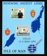 ISLE OF MAN MNH 1980 MS180 VISIT OF KING OLAV OF NORWAY