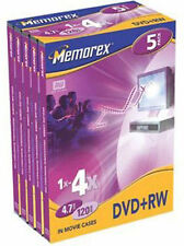 1x DVD+RW memorex 4,7 Gb 4x video box  #864114-05V