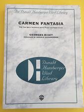 Carmen Fantasia, for 2 Solo Trumpets with Piano & Percussion, Bizet/Hunsberger
