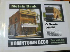Downtown Deco O #DD50 Metals Bank -- Cast-Hydrocal Kit (Plaster kit)