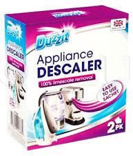 4 X Duzzit 2 Sachet Appliance Descaler Limescale Remover Cleaner Kettle Iron