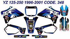 348 YAMAHA YZ 125-250 1996-2001 Autocollants Déco Graphics Stickers Decals Kits