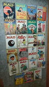 LARGE LOT! Vintage 23 MAD MAGAZINES Mostly 1960's