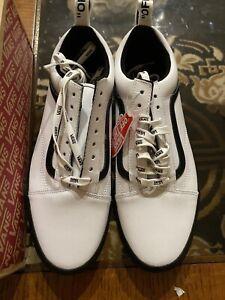 Vans Old SKOOL OTW Webbing White Black Skate Shoes sz 11.5 Lather  New Era Class