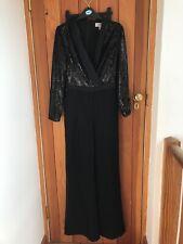 Coast Black Sequin Tux Wide Leg Jumpsuit