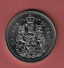 1996 CANADIAN  HALF DOLLAR $1 FIFTY CENT 50¢ PIECE COIN CANADA FROM MINT ROLL