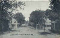 West Hebron NY Street View c1910 Postcard