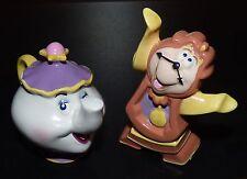 Beauty And The Beast Mrs Potts Cogsworth 1990s Schmid Disneyland Figurines