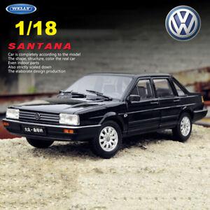 WELLY 1:18 VW Volkswagen SANTANA Diecast Model Cars Collection Black Vintage Car